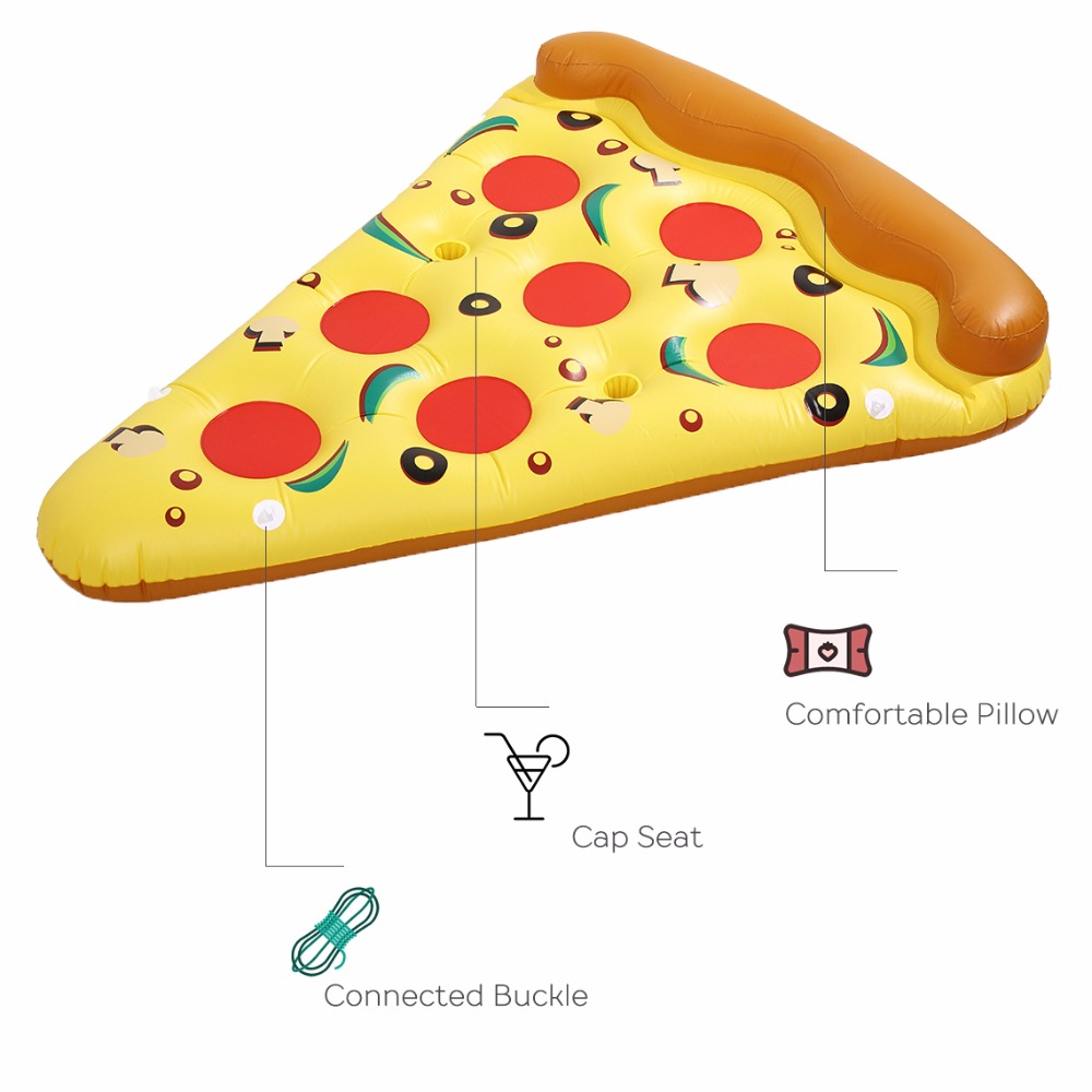 """Pizza""  Inflatable Floating Row Cool Interesting Swimming Toys For adults and Children Swimming Accessories Air Mattresses"