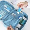 Mejor Regalo Azul Caja del artículo de Tocador de Maquillaje Cosmético de Viaje Bolsa de Lavado Bolsa De Almacenamiento Organizador Bolso d7