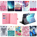 "For Galaxy Tab A 9.7 Protective leather cover case for samsung GALAXY Tab A 9.7 T555 T550 9.7"" tablet cases Flower Series s4D69d"