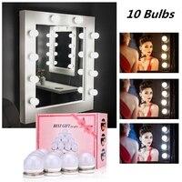 Make-Up Spiegel Ijdelheid Led Gloeilamp Hollywood Dimbare Spiegel Licht Makeup Kaptafel Set Voor Kleedkamer Zonder Spiegel
