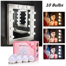 Makeup Mirror Vanity LED Light Bulb Hollywood Dimmable Mirror Light Makeup Vanity Table Set for Dressing Room Without Mirror giantex vanity set makeup dressing table tri folding mirror black stool 4 drawers home furniture hw59006bk