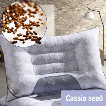 2Pcs Cassia Health Cervical Pillow Pearl Cotton Core Sleep Repair Neck Magnetic Pillow Magnetic Health Care Bedding Pillows