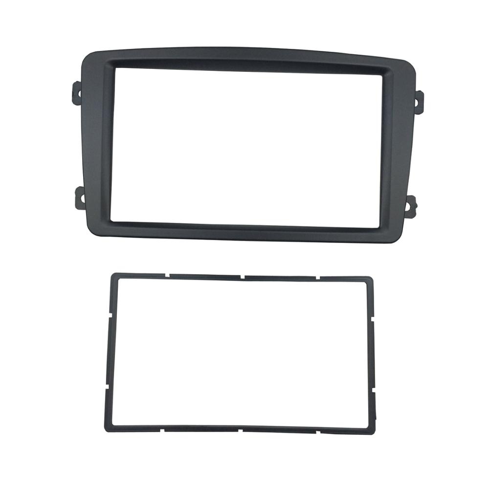 hight resolution of 1 din fascia for benz c class w203 stereo panel with storage pocket cd dvd refitting installation trim kit face frame in fascias from automobiles