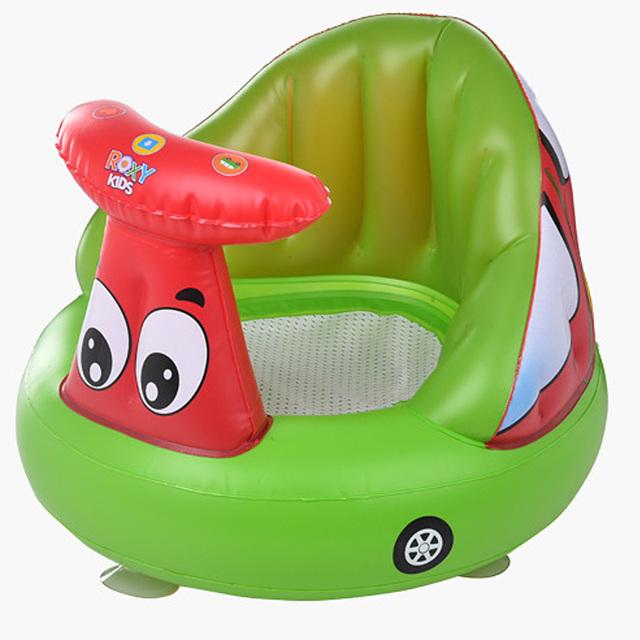 Banho de assento da Cadeira De Jantar Do Bebê Sofá Inflável cadeira cadeirinha de bebê portátil Do assento Do Bebê cadeira Play Game Mat sofá Crianças Aprendem fezes