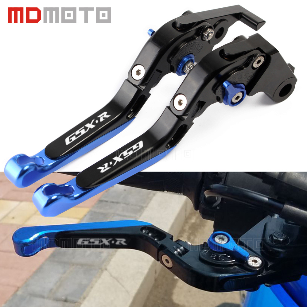 CNC Motorcycle Adjustable Folding Extendable Brake Clutch Lever For Suzuki GSXR 600 750 GSX-R 600 750 GSXR600 GSXR750 2004 2005 blue butterfly flower mini4 mini2 mini3 flip cover for ipad pro 9 7 air air2 mini 1 2 3 4 tablet case protective shell