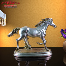 2016 Hot Sale New European Horse Decoration Crafts, Resin Swing Set Home Furnishing Office Living Room Decor