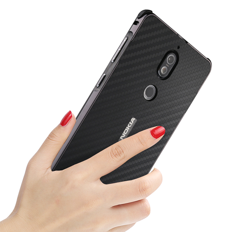 Nokia7 Case Luxury Aluminum Metal Frame Bumper Case For Nokia 7 Carbon Fiber Back Cover for Nokia 7 Phone Cover Case 5 2 39 39 in Fitted Cases from Cellphones amp Telecommunications