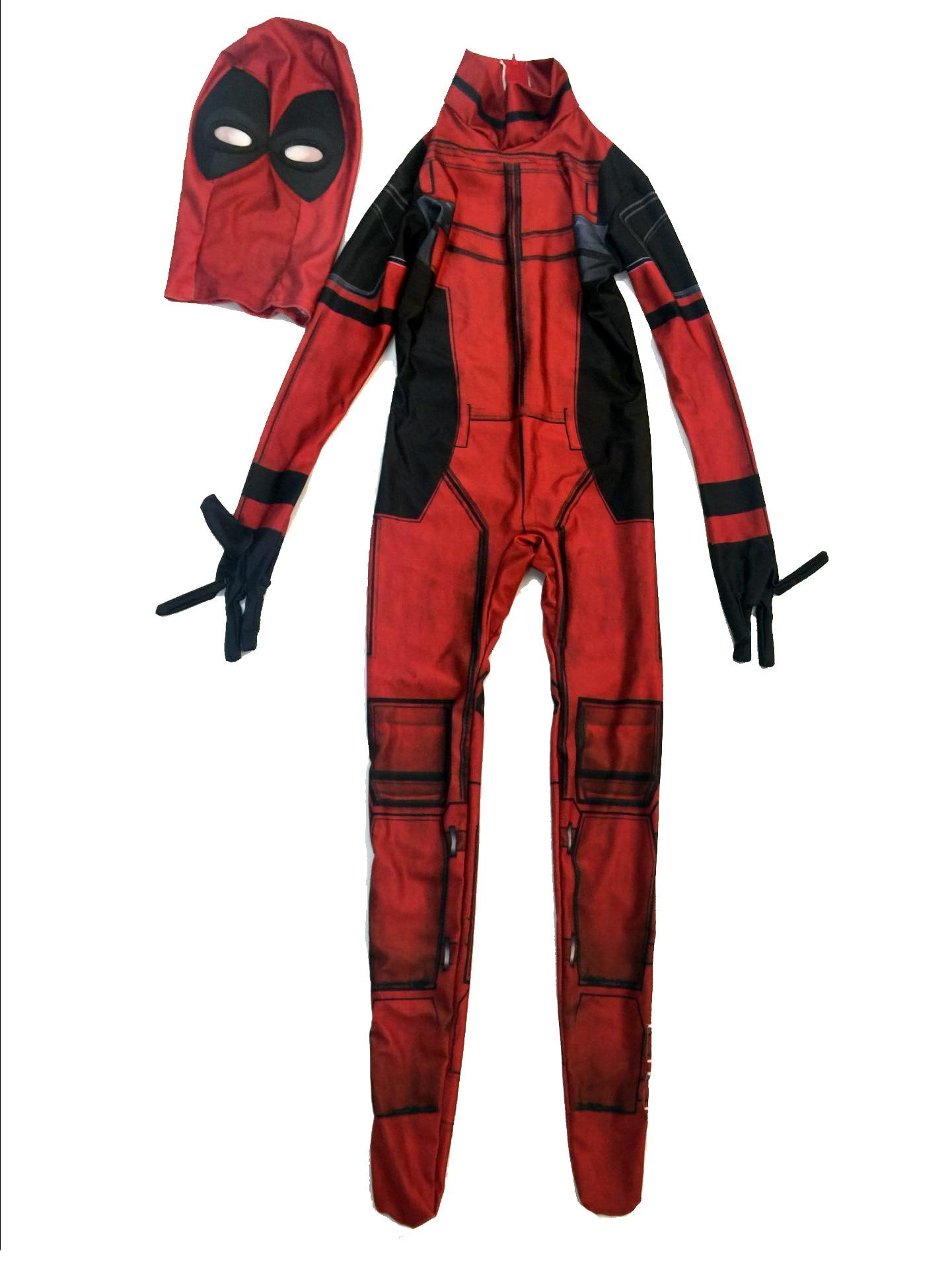 Deadpool Halloween Costume pour Enfants Garçons Partie Cosplay carnaval  costumes enfants full body spandex masque adulte hommes fantaisie robe dans  Costumes ... 4884d1d4052