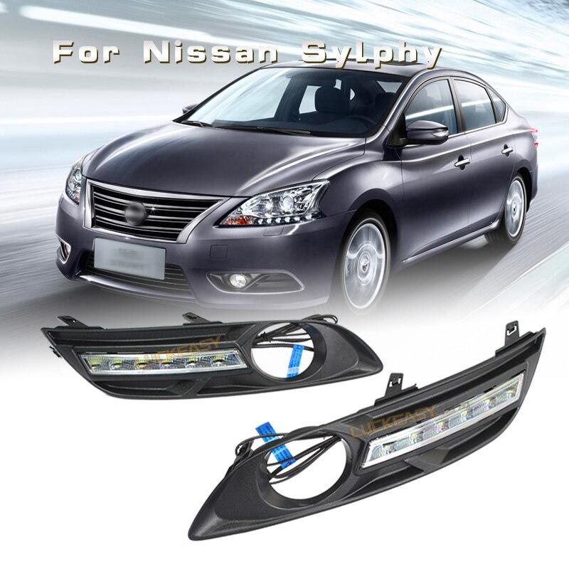 for nissan Sylphy DRL Led Lights Car daytime running lights 2012 to 2014