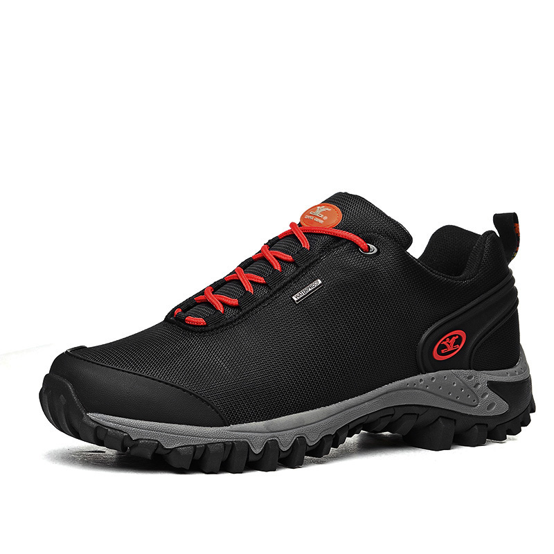 ФОТО Man Women Canvas Waterproof Hiking Shoes Low Slip Resistant Shoes Outdoor Climbing Shoes Online
