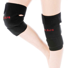 1 Пара фиксатор колена поддержка спонтанная защита нагрева Магнитная терапия здоровье наколенники протектор наколенники для мужчин и женщин