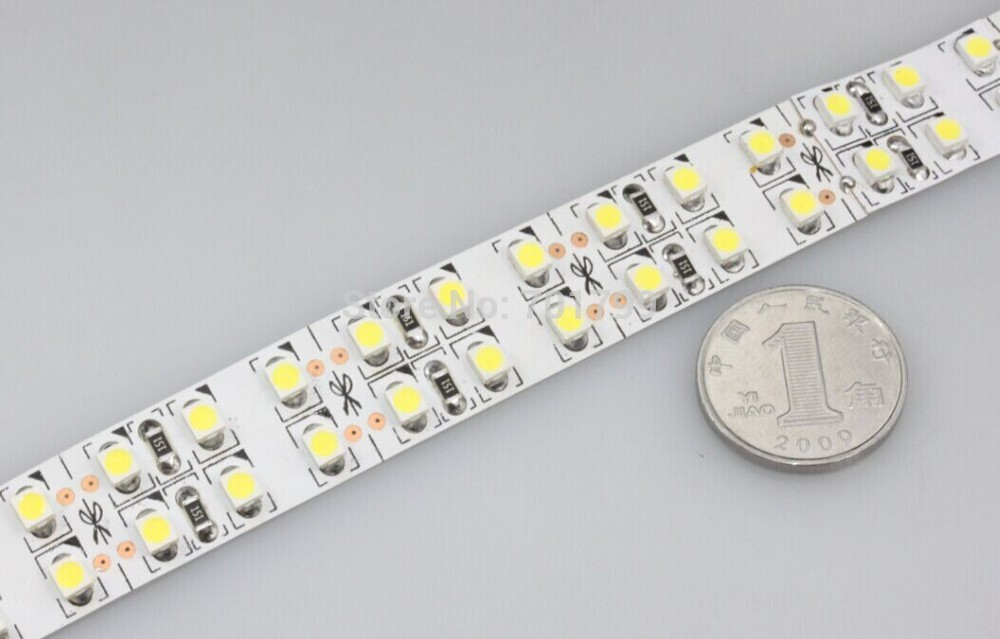 5m 240LEDs/m double row IP33 3528 SMD 24V flexible light,white/warm white/blue/green/red/yellow color;non-waterproof
