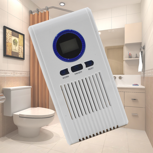 Ozone Generator Air Purifier Toilet Disinfectant Machine Air Cleaner For  Bathroom Shoe Racks With LED Display