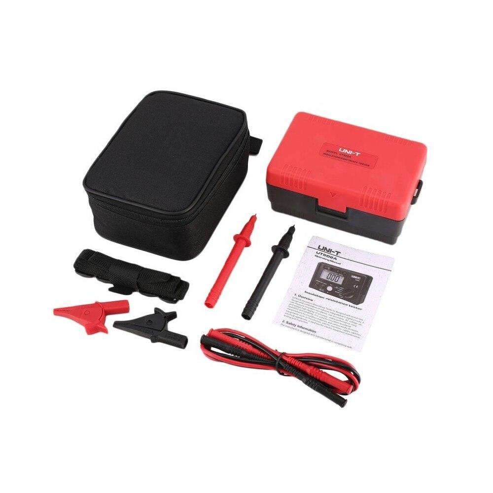 UNI-T UT502A 2500 v Resistenza di Isolamento Tester Meter Megger Megaohmmetro Digitale Voltmetro Tester di Continuità Diagnostico-strumenti