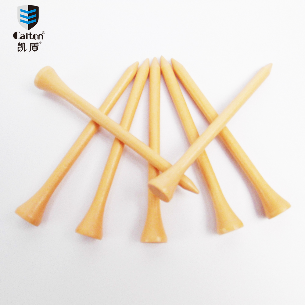 Caiton 100PCS/Pack 83mm Natural logs Wooden Golf Tees Match special golf wood tees
