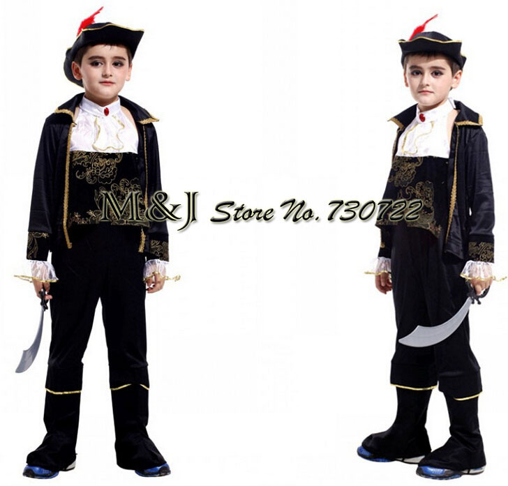 small caribbean pirate stage costumes pirate suit childrens halloween costume for cosplay show in boys costumes from novelty special use on
