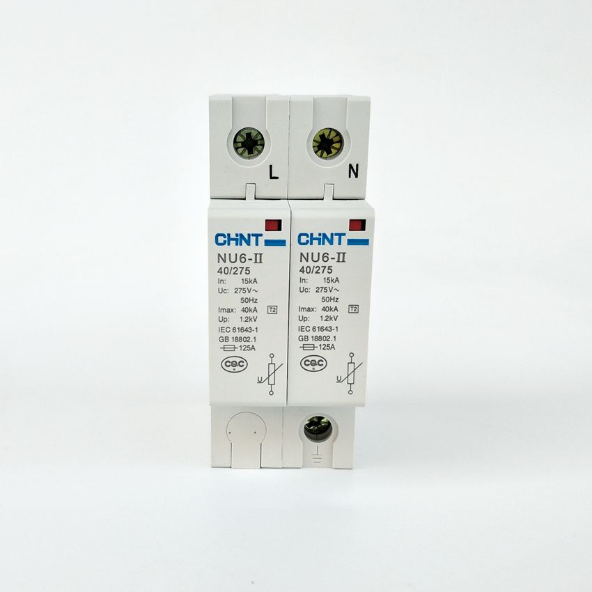 цена на CHINT NU6-II 2P 15-40KA 275V Low-voltage Surge Arrestor