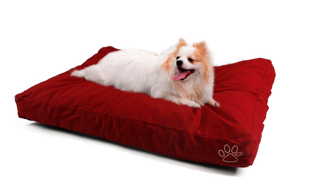 Fast delivery Dog Cushion Cover Red Yan Cotton Bed Cover Pet Fleece <font><b>Blanket</b></font> Big Dog Bed Mat Cover L/XL Convenient Design