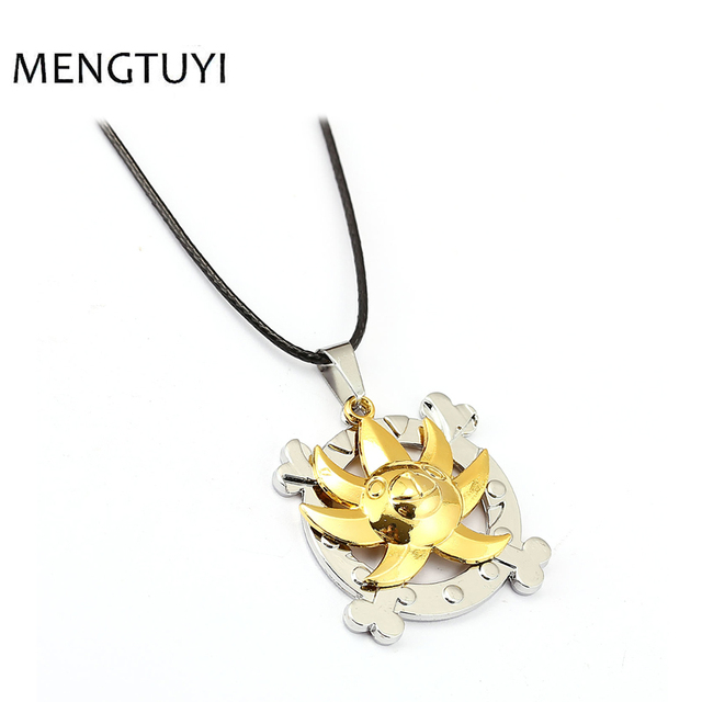 J store Anime One Piece jewelry Alloy Necklaces Thousand Sunny Logo Necklace Cosplay choker necklace for women rope chain