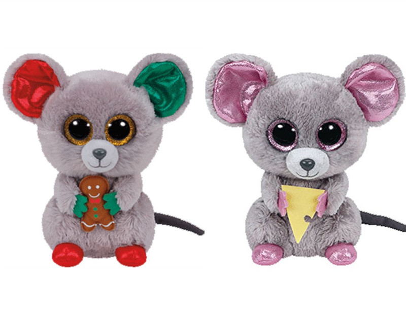 Ty Beanie Boos Christmas Holiday Mac Squeaker Mouse With