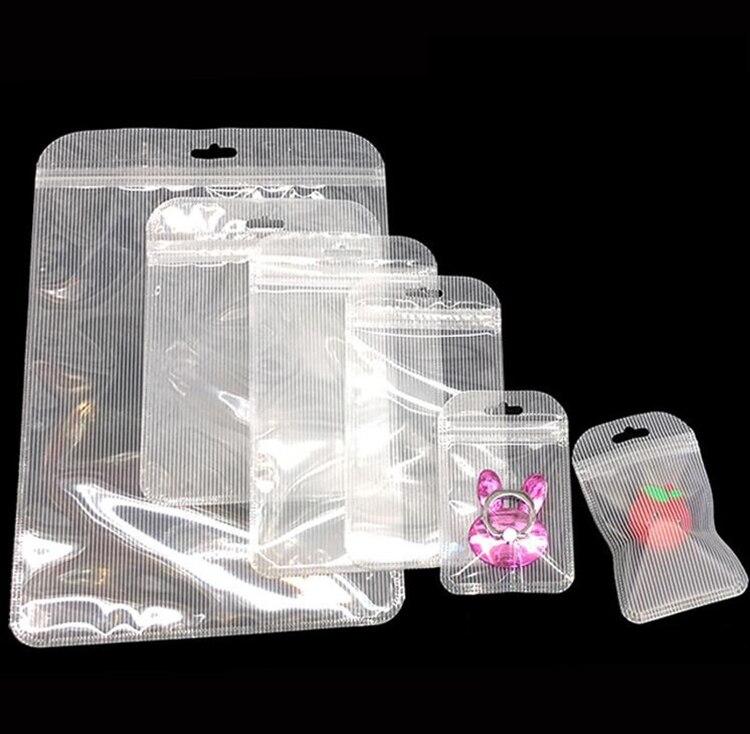 100 шт., длинные пластиковые прозрачные пакеты для украшений