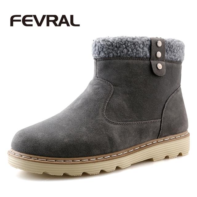 5a5c9101bd FEVRAL Uomini Inverno Scarpe Da Neve Uomo Boot Stivaletti di Pelliccia Caldo  Calzature di Alta Qualità ...
