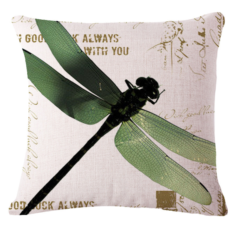 US $9 73 |Dragonfly Bright Sofa Seat Chair Back Cushion with No Filling  17