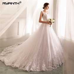 Robe De Mariage 2019 Vestidos de novia Sexy Spaghetti Strap V Neck Bead Sash Wedding Dress Cheap A Line Wedding Gowns 2