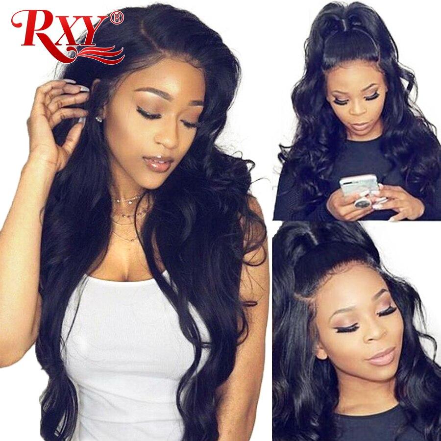 RXY 360 Синтетические волосы на кружеве al парик предварительно сорвал с для волос Бразильский объемная волна парик Синтетические волосы на кр...
