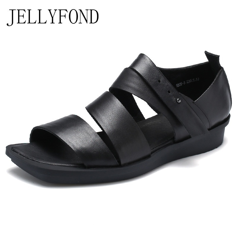 Handmade Gladiator Sandals Women Shoes Peep Toe Cross Tied Genuine Leather Flat Sandals Rome Casual Summer Shoes Woman 2017 new summer fashion women casual shoes genuine leather lady leisure sandals gladiator all match ankle peep toe flowers