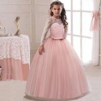 Flower Baby Girl Princess Dress Kids Long Sleeve Winter Dresses For Girl Party Events Children Clothing