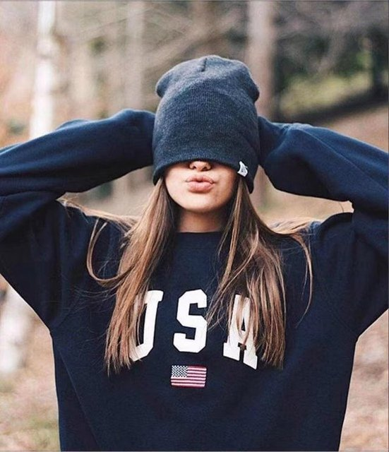 clothes women hoodies sweatshirts ladies autumn winter fall chic usa print flag elegance parties sports sweat shirts hoodies