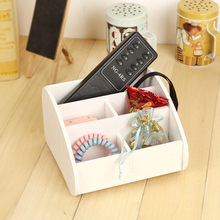 Remote control storage box desktop cell phone holder shelf miscellaneously finishing remote