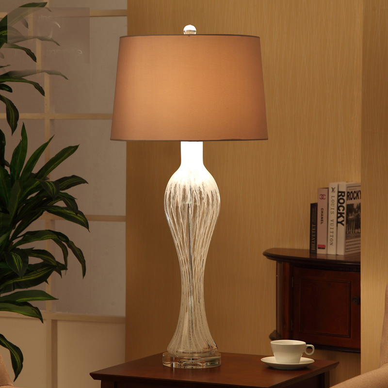 FUMAT Coral Table Lamps Modern White Fabric Lampshade Abajour Para ...