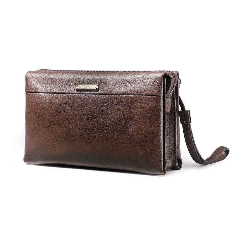 Marque 100% véritable cuir homme portefeuilles avec porte-carte hommes embrayage affaires homme portefeuille Zipper Vintage organisateur grand portefeuille J20