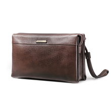 Teemzone Nuevos hombres de moda bolsos de embrague de cuero genuino bolsa de mano masculina casual bolsa de mensajero de la marca titular de caja S3326