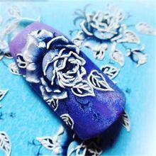 3D chiodo di trasferimento dellacqua del chiodo della decalcomania Floreale Rosa sticker nail wraps 3 d del chiodo scivolo #3D0024