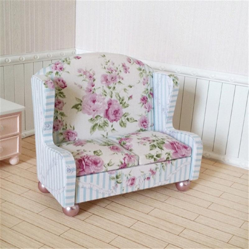 kawaii muebles de casa de muecas en miniatura de juguete sof nias nios