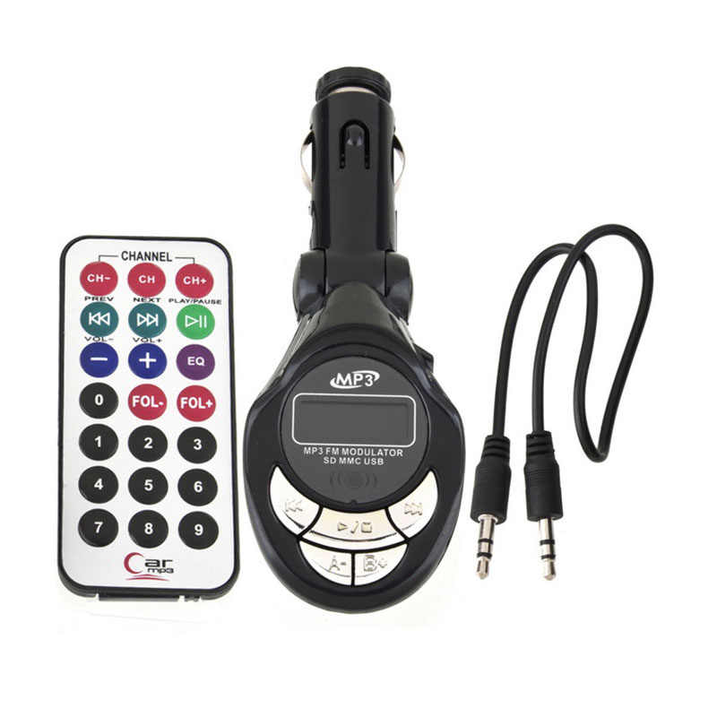 New Car MP3 Player Wireless FM Transmitter Modulator USB SD CD MMC Từ Xa XRC Bán Buôn Price_KXL0424