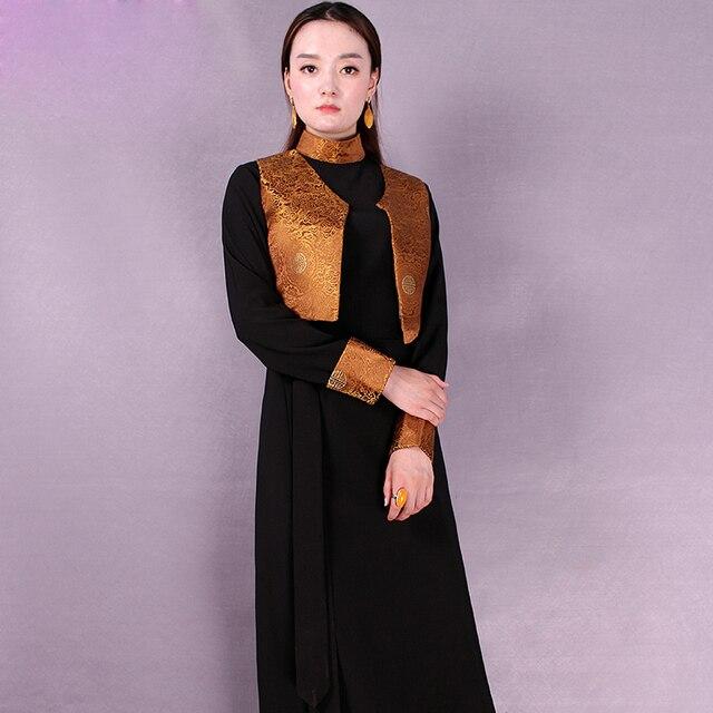 Tibetan ethnic clothing Bora two piece Tibet clothing cangpao women's clothing Amdo Tibetan folk style Life Costume