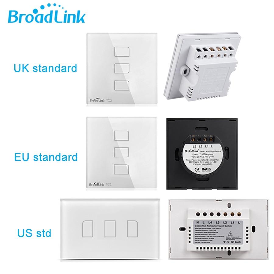 Image 4 - Broadlink TC2 1Gang/2Gang/3Gang UK/EU/US Touch RF433 Switch Smart  Home Automation Wireless Wifi Remotel Control  Wall Lighteu usus  euus light
