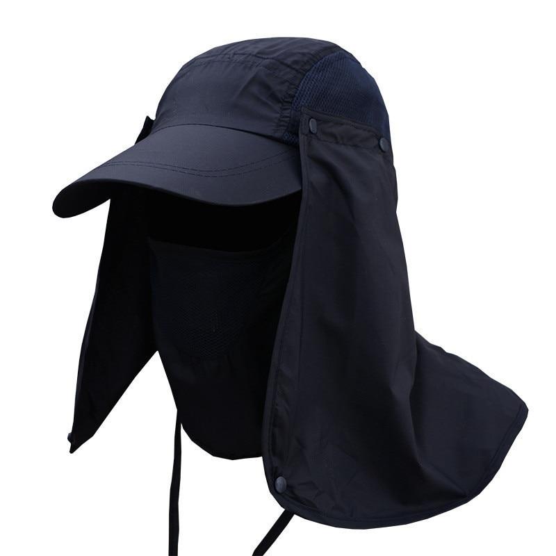 Women Men Neck Face Sunscreen Flap Hat  Professional Summer Sun Hats Protection Cap Fisherman Hat Sun Mask Cap Outdoor
