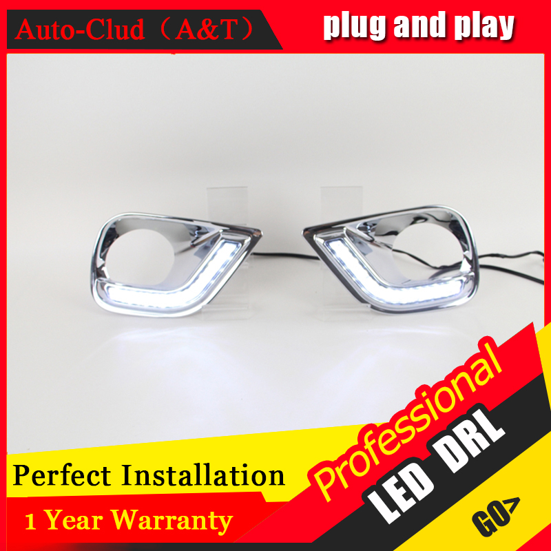 Auto Clud car styling For Toyota RAV4 LED DRL For RAV4 High brightness guide LED DRL led fog lamps daytime running light C style auto clud car styling for toyota highlander led drl for highlander high brightness guide led drl led fog lamps daytime running l