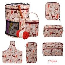 Looen 7 видов стилей, пустая сумка для вязания, сумка для хранения вязания крючком и спицами, инструменты для шитья, аксессуары для мам