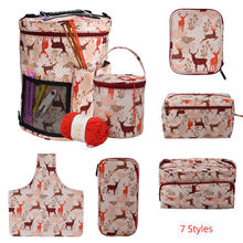 Looen 7 Styles Empty Knitting Bag Yarn Storage Crochet Bag For Crochet Hook and Knitting Needle Sewing Tools Accessories For Mom(China)