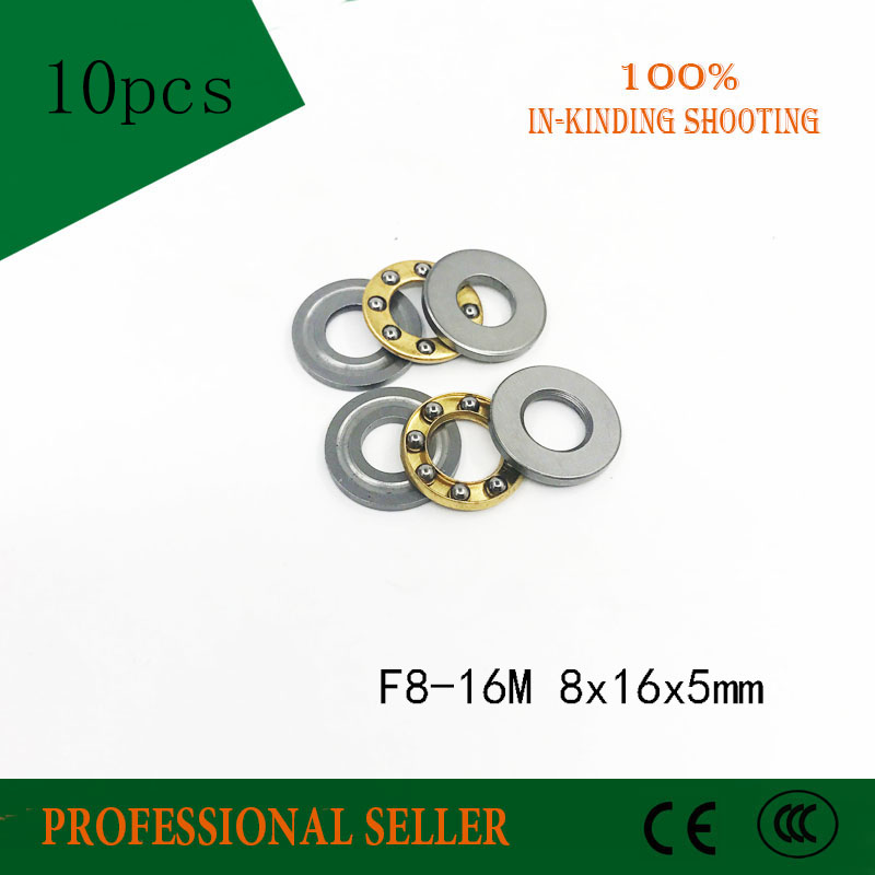 Free Shipping F8-16M  8*16*5mm 10PCS/LOT Mini Thrust  Ball Bearing RC Models With Grooved Raceway(s) F8-16
