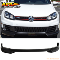 Fits 10 14 Volkswagen VW Golf 6 GTI RG Style Front Bumper Lip Spoiler Urethane PU Unpainted Black