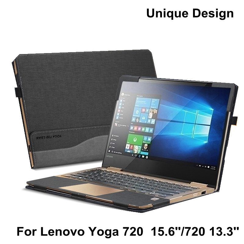 Laptop Cover For Lenovo Yoga 720 720-15 15.6 Inch New Design Sleeve Case PU Leather Protective Skin For Yoga 720-13 13.3'' Gift