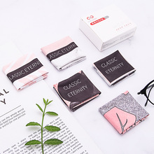 5 pcs/lots High quality Chamois Glasses Cleaner  Microfiber Marble Texture Cleaning Cloth For Lens Phone Screen