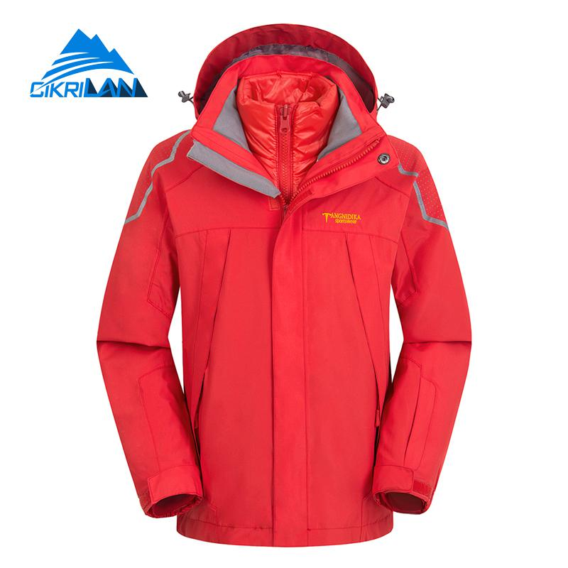 Children Windstopper Leisure Camping Hiking Ski Snowboard Winter Outdoor Waterproof Jacket Kids Boys Girls Cotton Lining Coat yin qi shi man winter outdoor shoes hiking camping trip high top hiking boots cow leather durable female plush warm outdoor boot